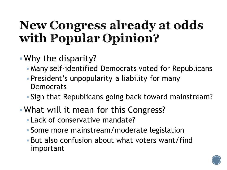  Why the disparity.