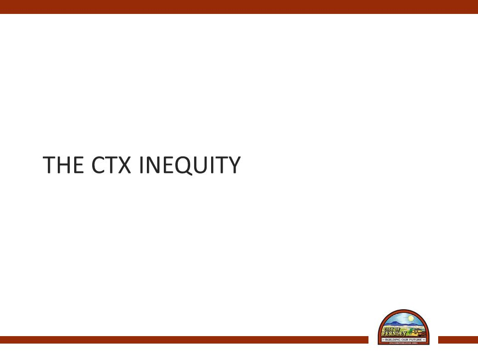 THE CTX INEQUITY