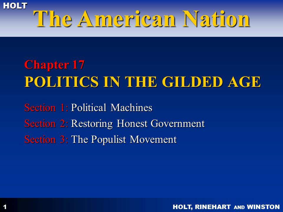 HOLT, RINEHART AND WINSTON The American Nation HOLT 12 2.