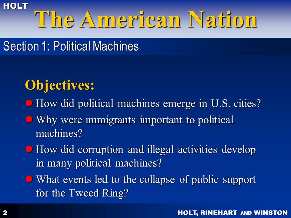 HOLT, RINEHART AND WINSTON The American Nation HOLT 3 2.