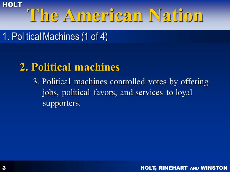 HOLT, RINEHART AND WINSTON The American Nation HOLT 14 Objectives: What factors led to economic hardships for farmers.