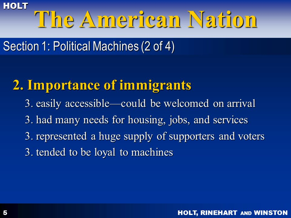 HOLT, RINEHART AND WINSTON The American Nation HOLT 6 2.