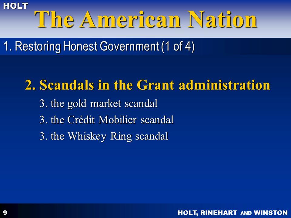 HOLT, RINEHART AND WINSTON The American Nation HOLT 20 2.