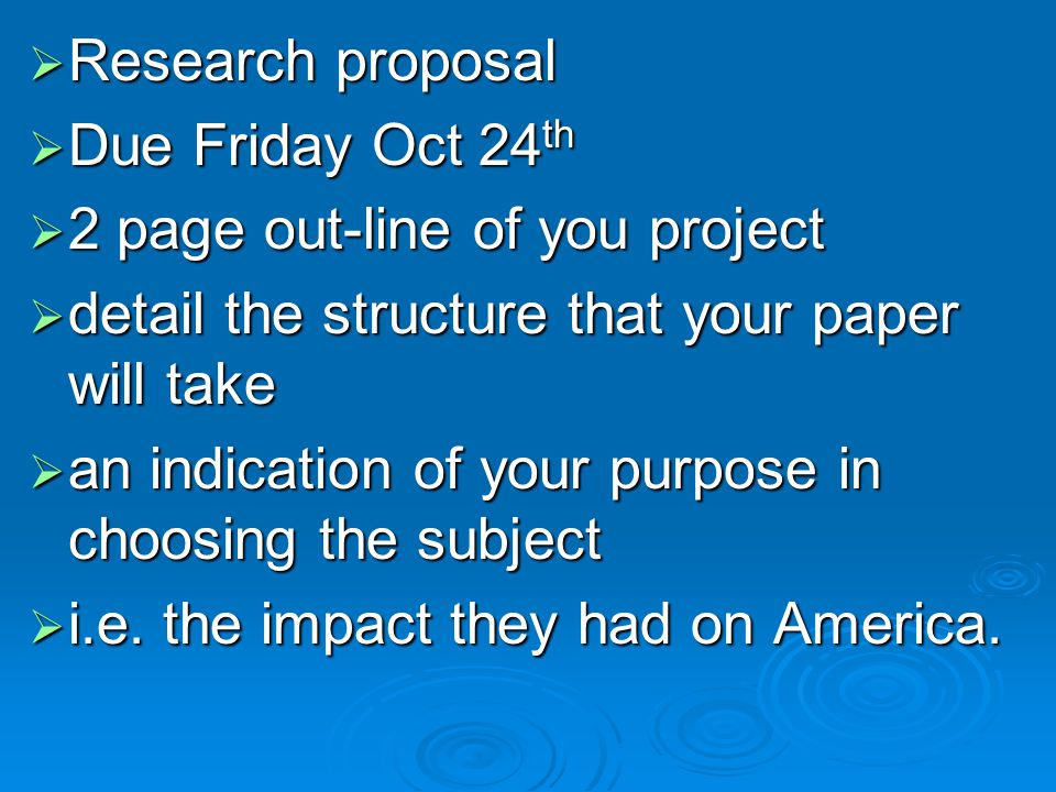  Research paper:  Students will select a topic, in consultation with the professor, and prepare a research paper of 7-8 pages, type-written and double spaced.