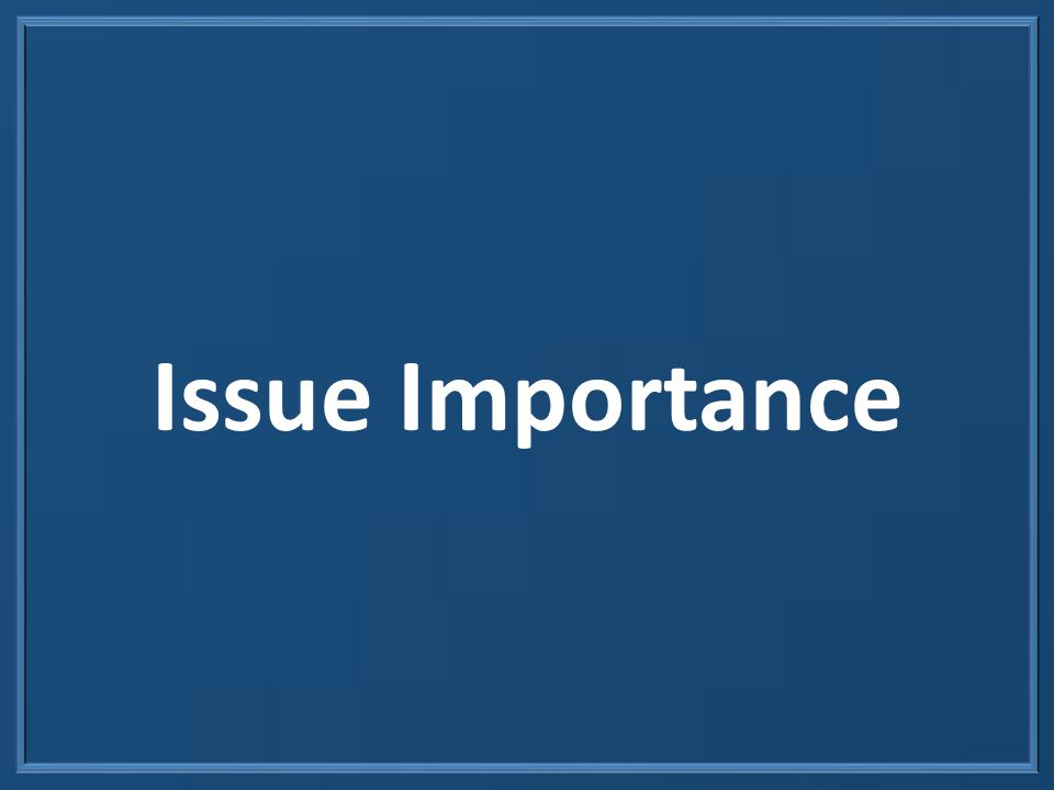 Issue Importance