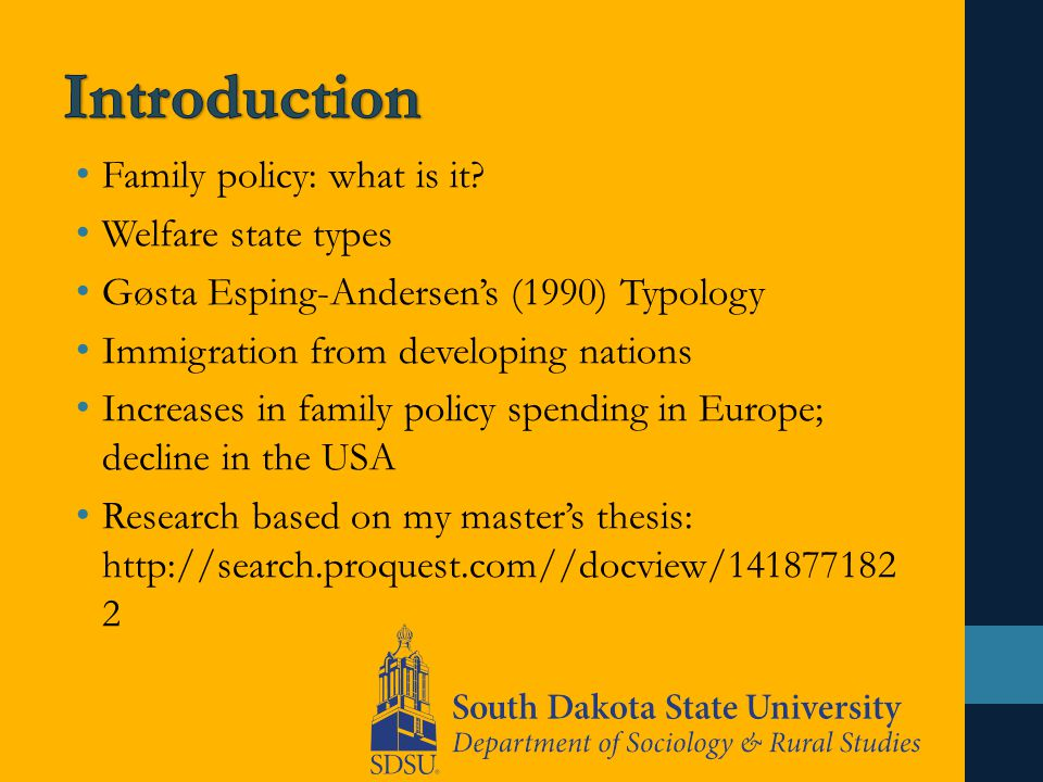Family policy: what is it.