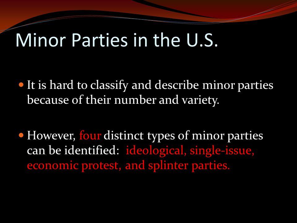Minor Parties in the U.S.