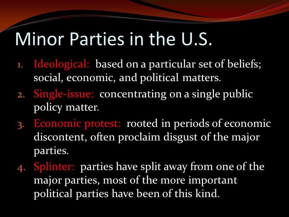Minor Parties in the U.S.1.