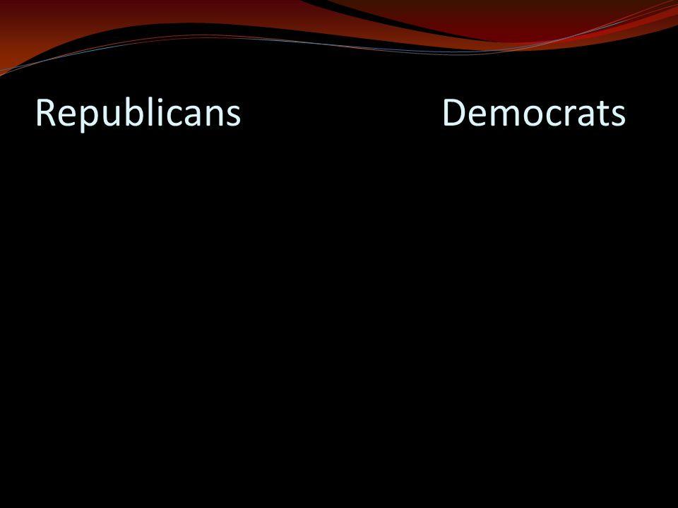 RepublicansDemocrats