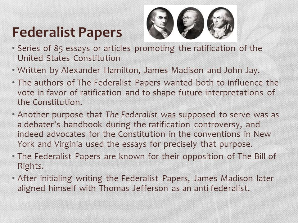 On The Constitution Of The United States A collections of Essays ...