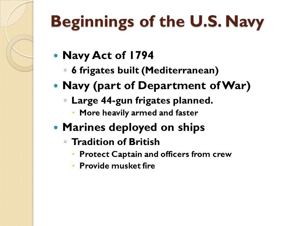 Beginnings of the U.S.