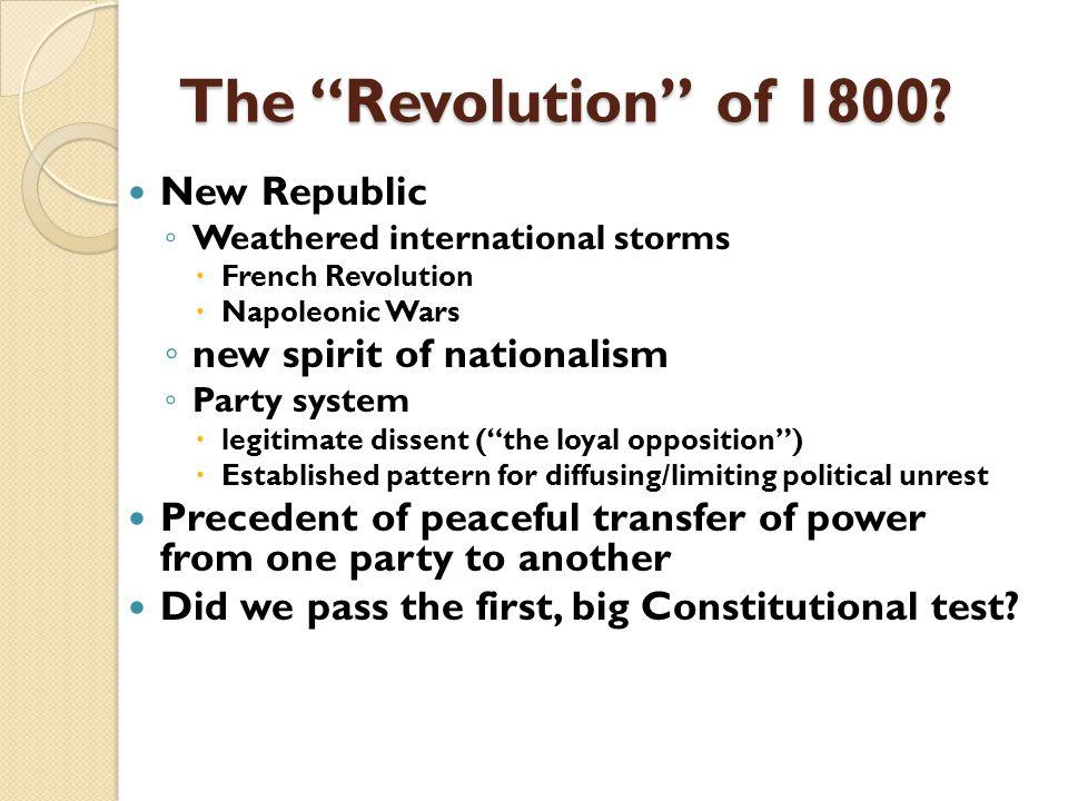 The Revolution of 1800.