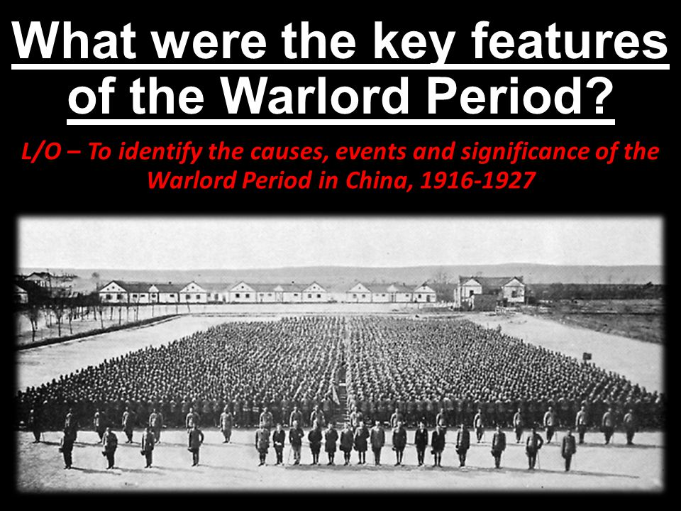 What were the key features of the Warlord Period.