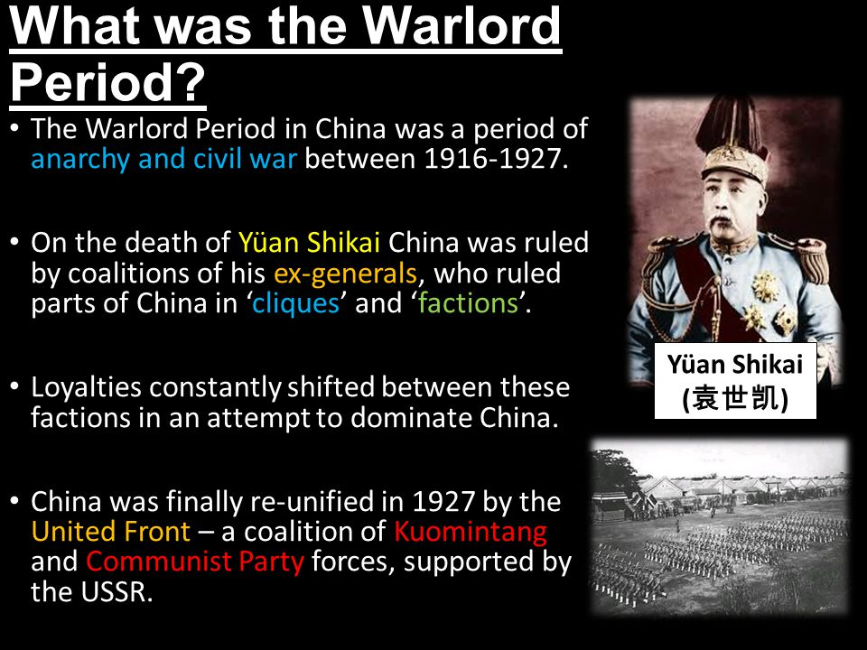 What was the Warlord Period.