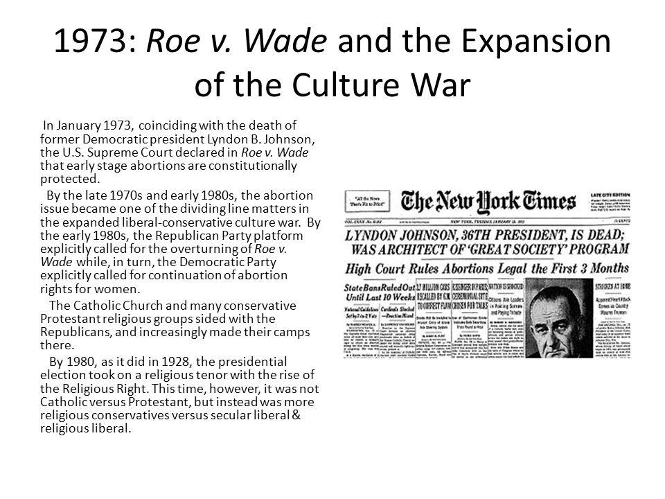 1973: Roe v.