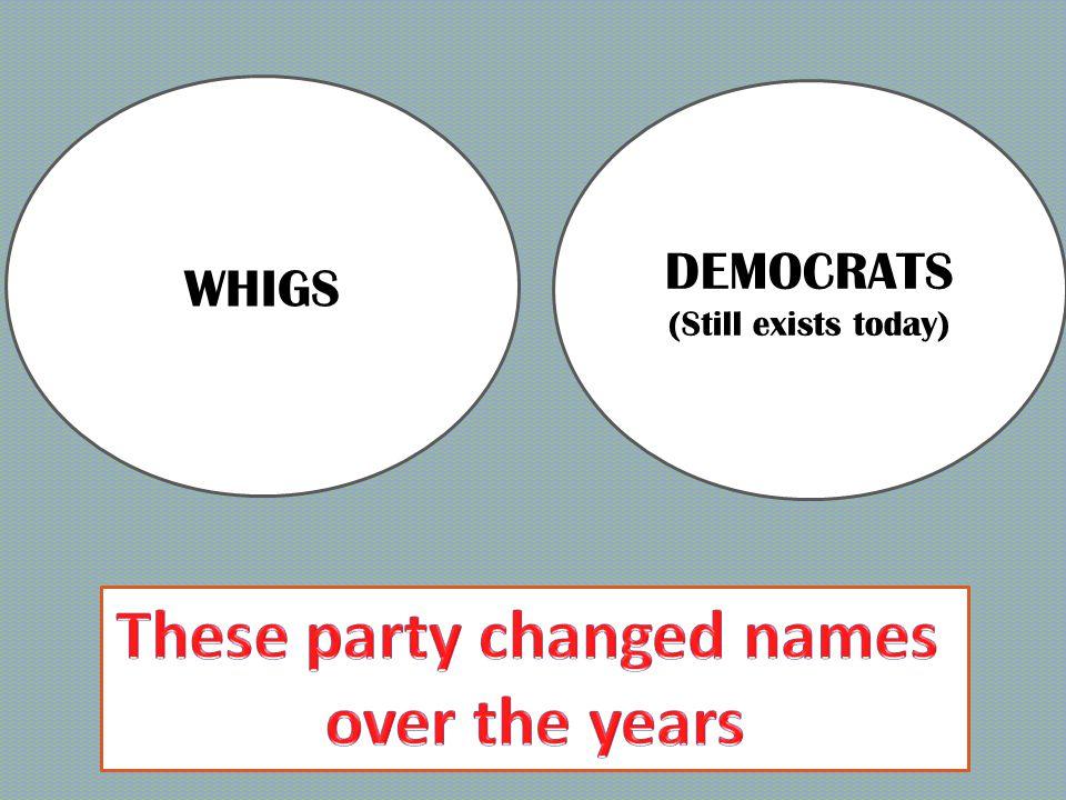 NATIONAL- REPUBLICANS DEMOCRATIC- REPUBLICANS
