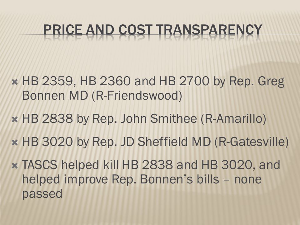  SB 257 by Sen. Bob Deuell MD (R-Greenville) would have reduced the statute of limitations for filing a claim/lawsuit for no payment, underpayment, a