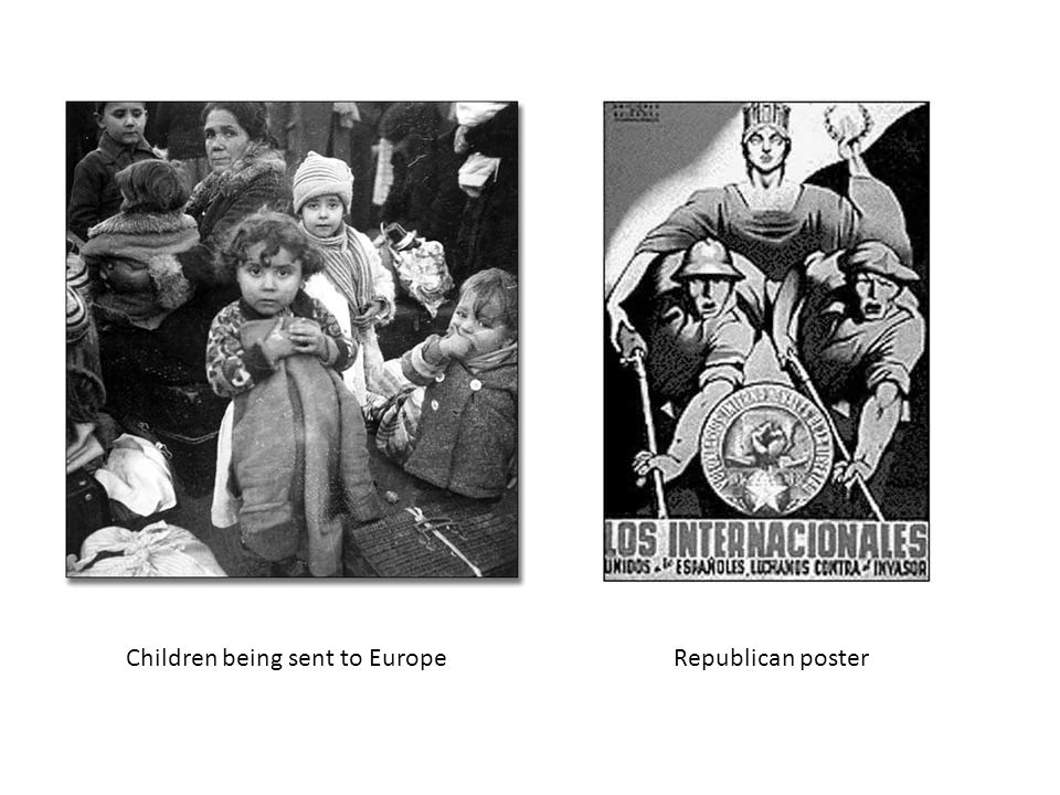 Children being sent to EuropeRepublican poster