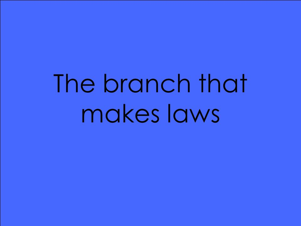 The branch that makes laws