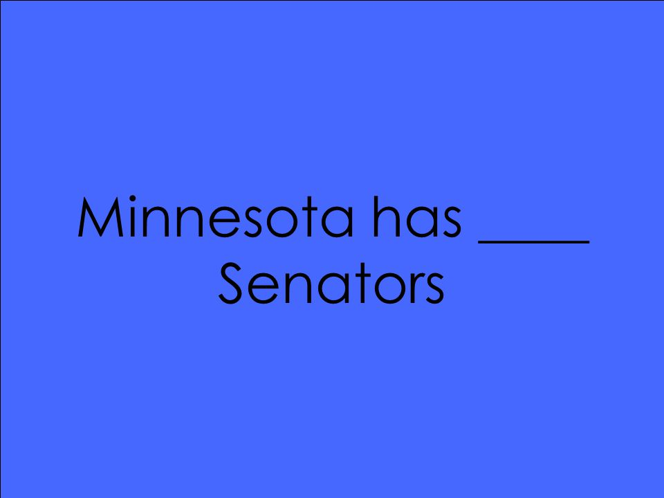 Minnesota has ____ Senators
