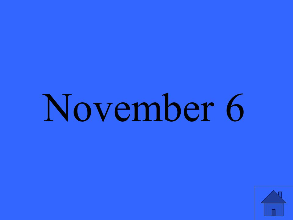 November 6