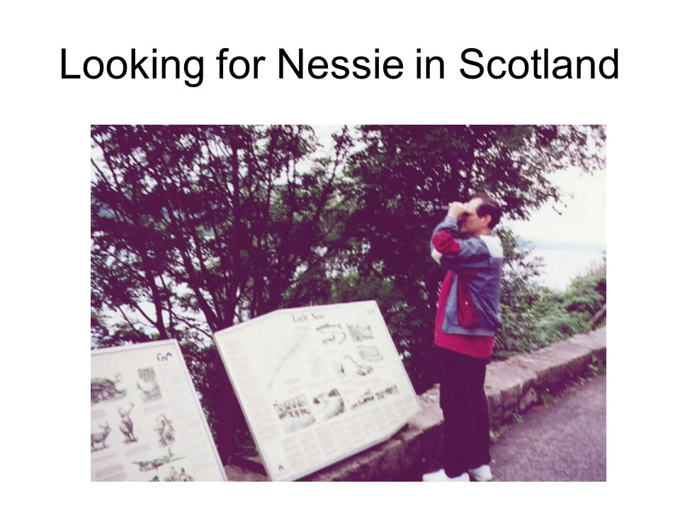 Looking for Nessie in Scotland