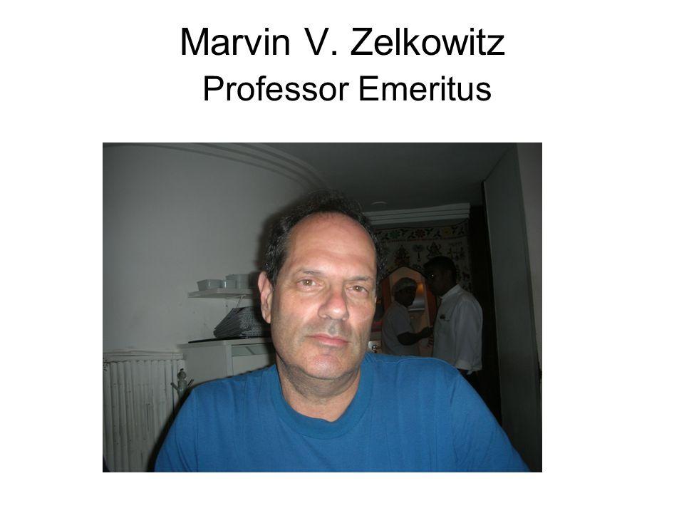 Marvin V. Zelkowitz Professor Emeritus