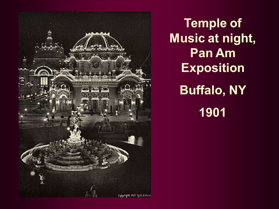 Temple of Music at night, Pan Am Exposition Buffalo, NY 1901