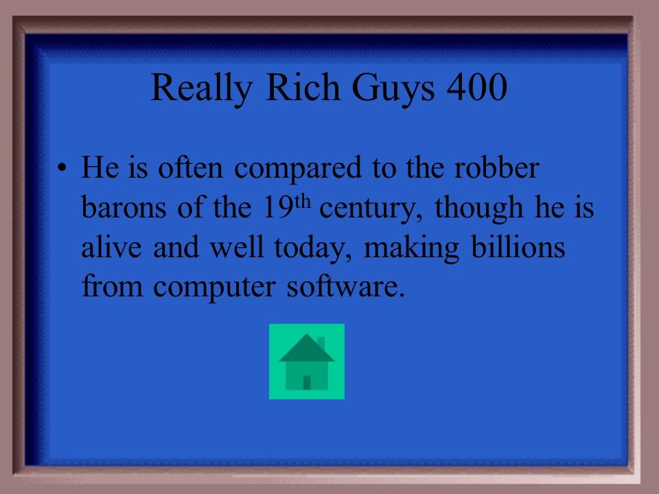 Really Rich Guys 300 Henry Ford