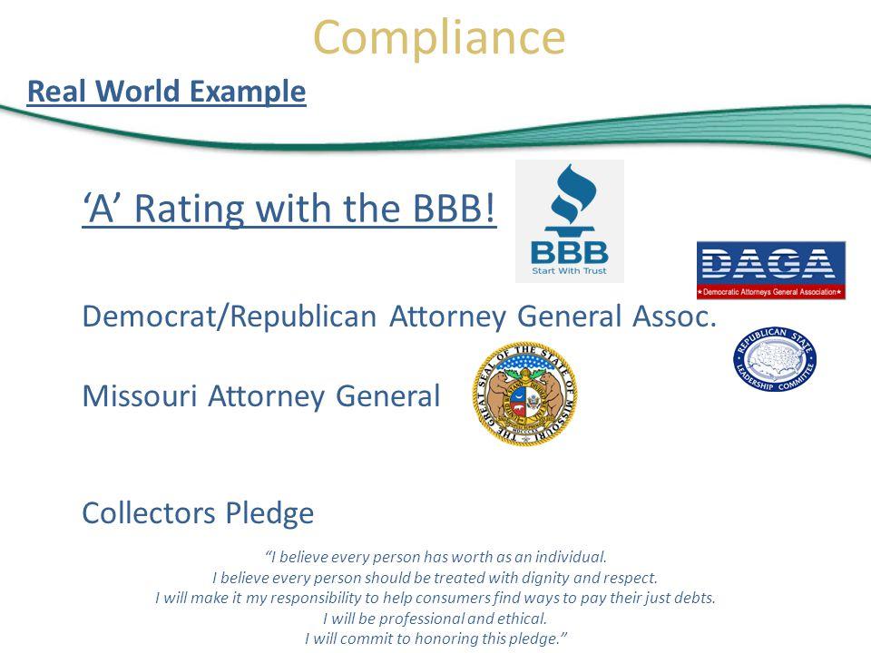 Collectors Pledge Missouri Attorney General Democrat/Republican Attorney General Assoc.