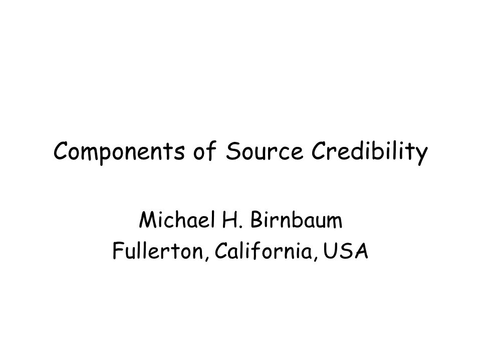 Outline I will review studies in which people aggregate evidence from sources A table of analogies can be used to link different content domains Useful to distinguish several factors describing source: expertise, bias, liking Also useful to consider bias of the judge, which I call point of view.