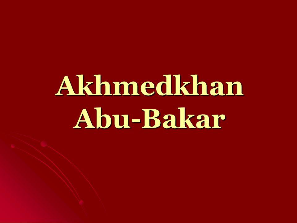 Akhmedkhan Abu- Bakar was born in 1931 in the village of Kubachi, which is in Dakhadayev region in Dagestan.