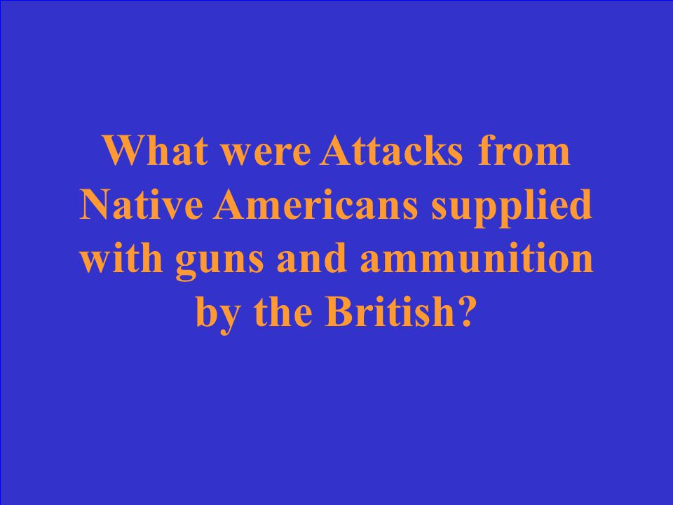 This was the main threat faced by American settlers in the Northwest Territory.