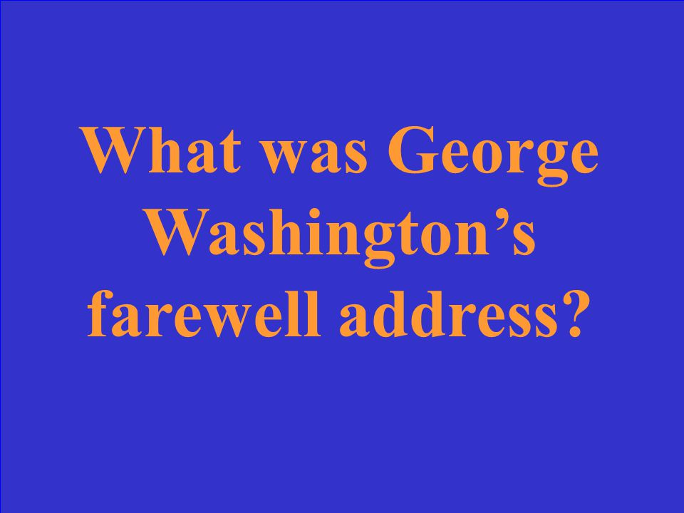 During this speech, George Washington warned against burdening future generations with debt.