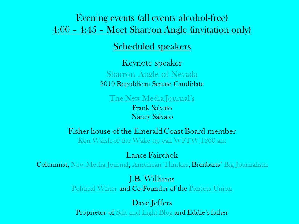 5:00 – 5:50 Ice breaker Hor devours provided 6:00 – 8:30 Banquet Master of Ceremonies Greg Allen of The Right Balance