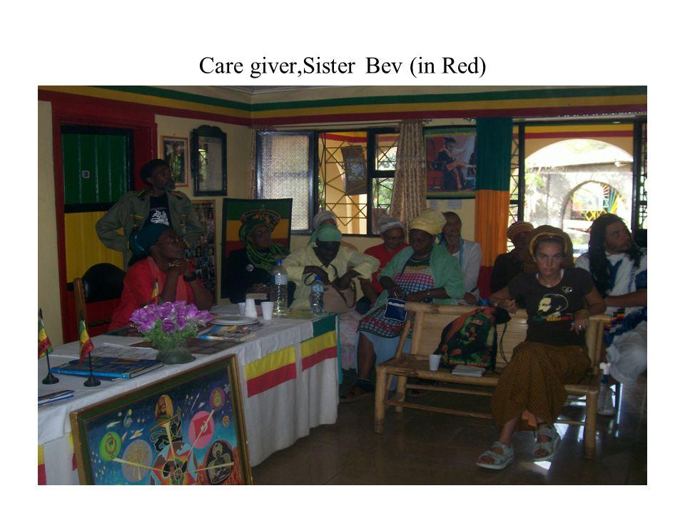 Care giver,Sister Bev (in Red)