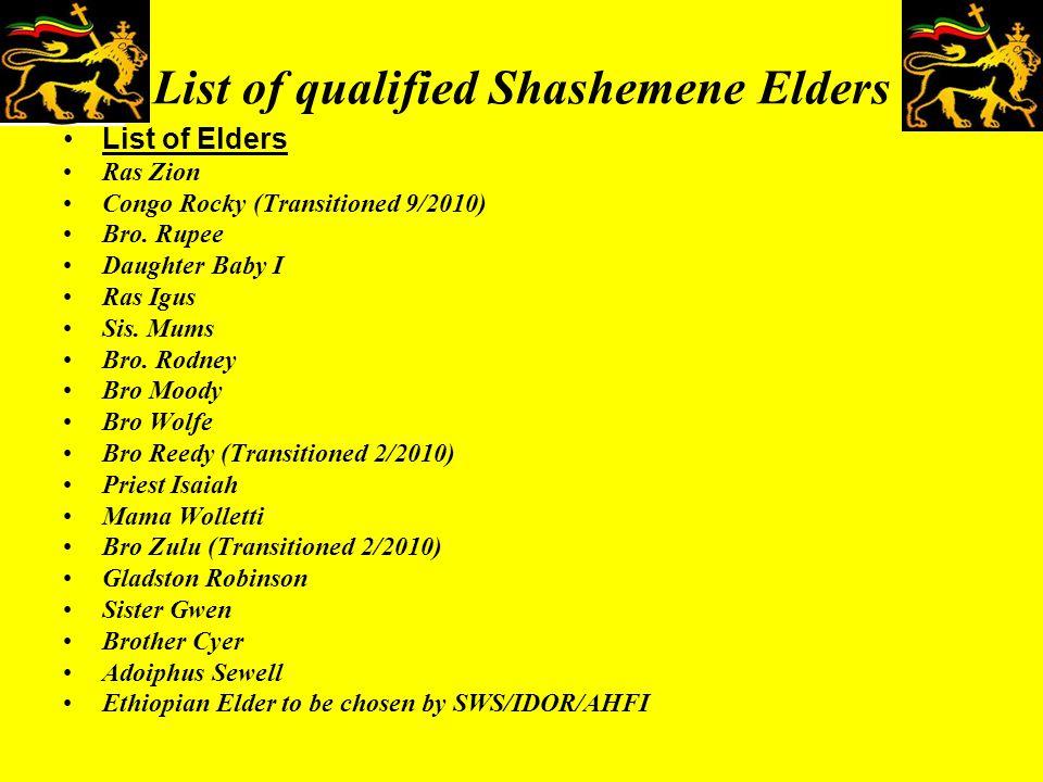 Shashemene Community Notice January 18, 2009 The Iniversal Development of Ras Tafari Inc.