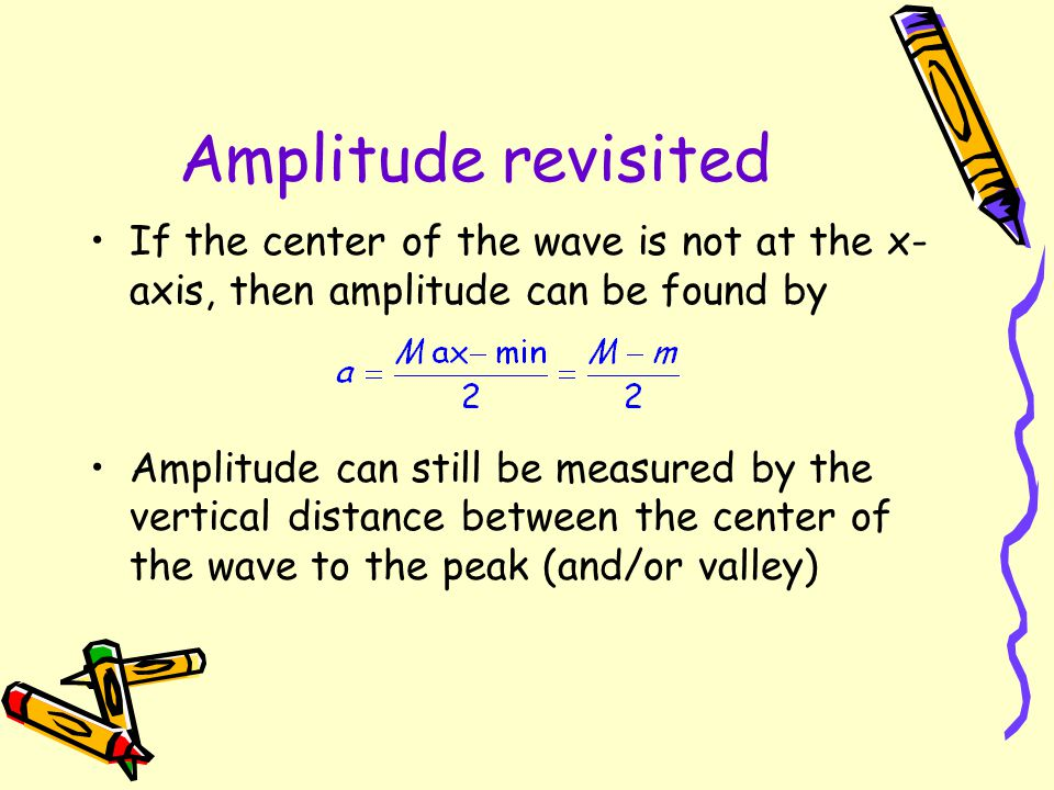 When the sine wave is shifted units to the left, what is the result? A cosine wave! So, sine and cosine curves are referred to as general sine waves.