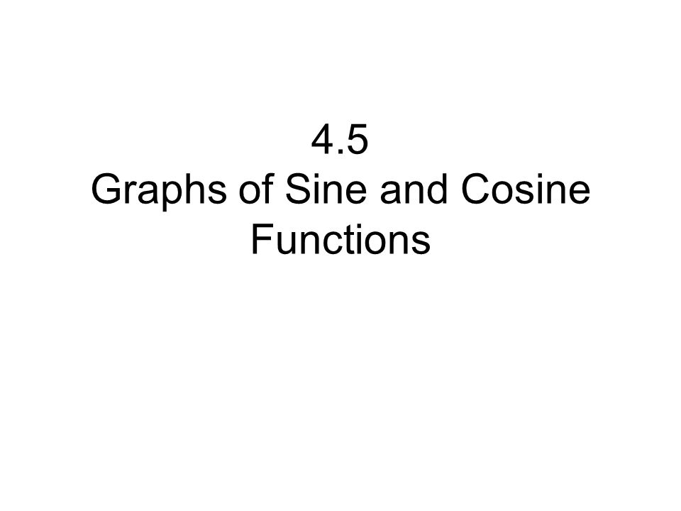 In this lesson you will learn to graph functions of the form y = a sin bx and y = a cos bx where a and b are positive constants and x is in radian measure.