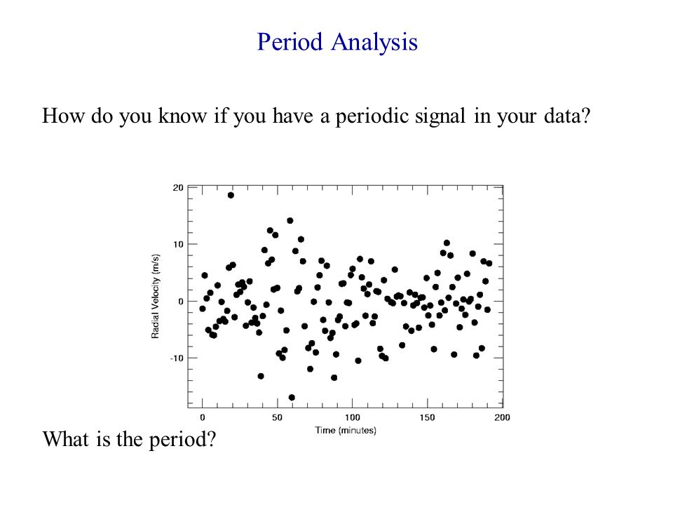 Comparison of the 3 Period finding techniques