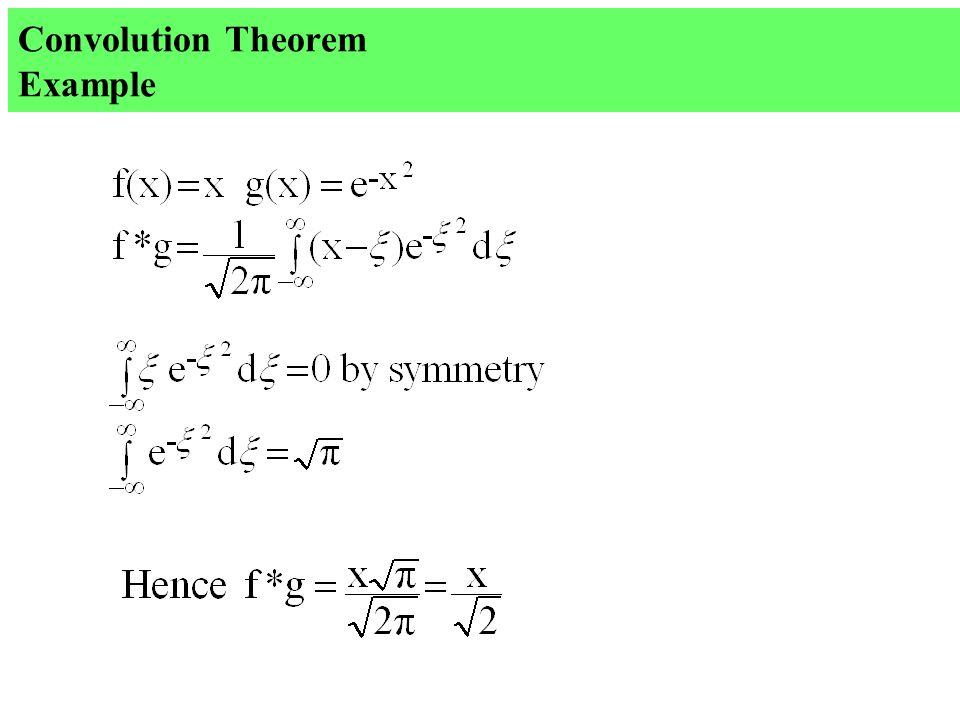 Convolution Theorem Example