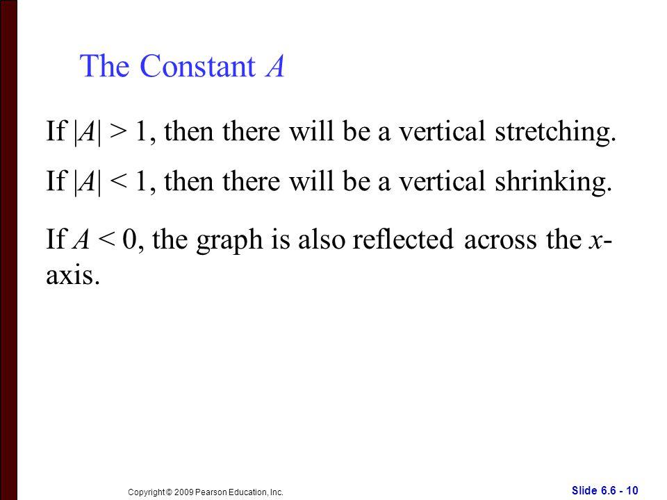 Slide 6.6 - 10 Copyright © 2009 Pearson Education, Inc.