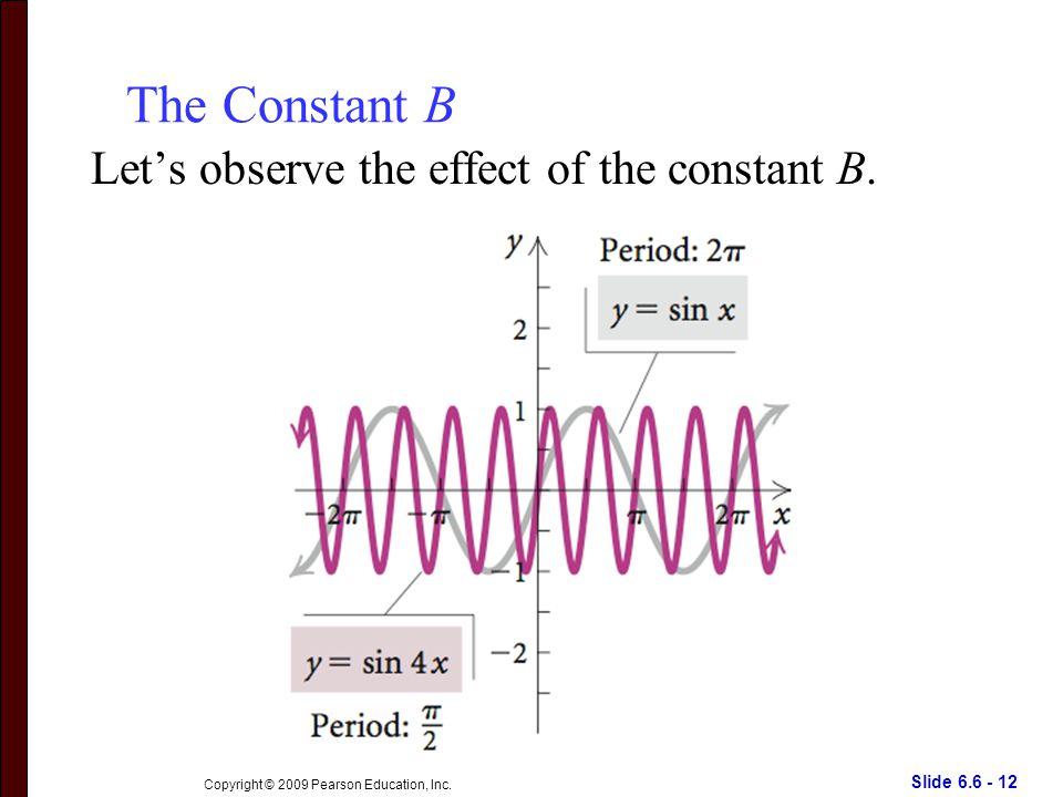Slide 6.6 - 12 Copyright © 2009 Pearson Education, Inc.