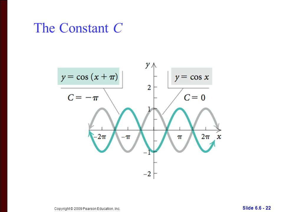 Slide 6.6 - 22 Copyright © 2009 Pearson Education, Inc. The Constant C