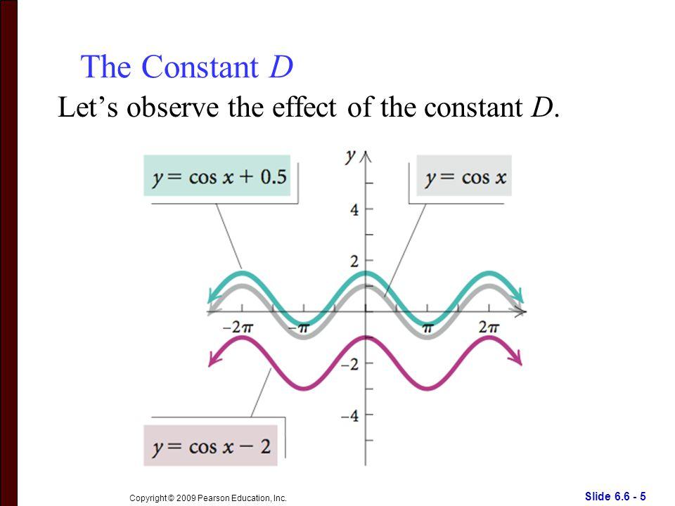 Slide 6.6 - 5 Copyright © 2009 Pearson Education, Inc.