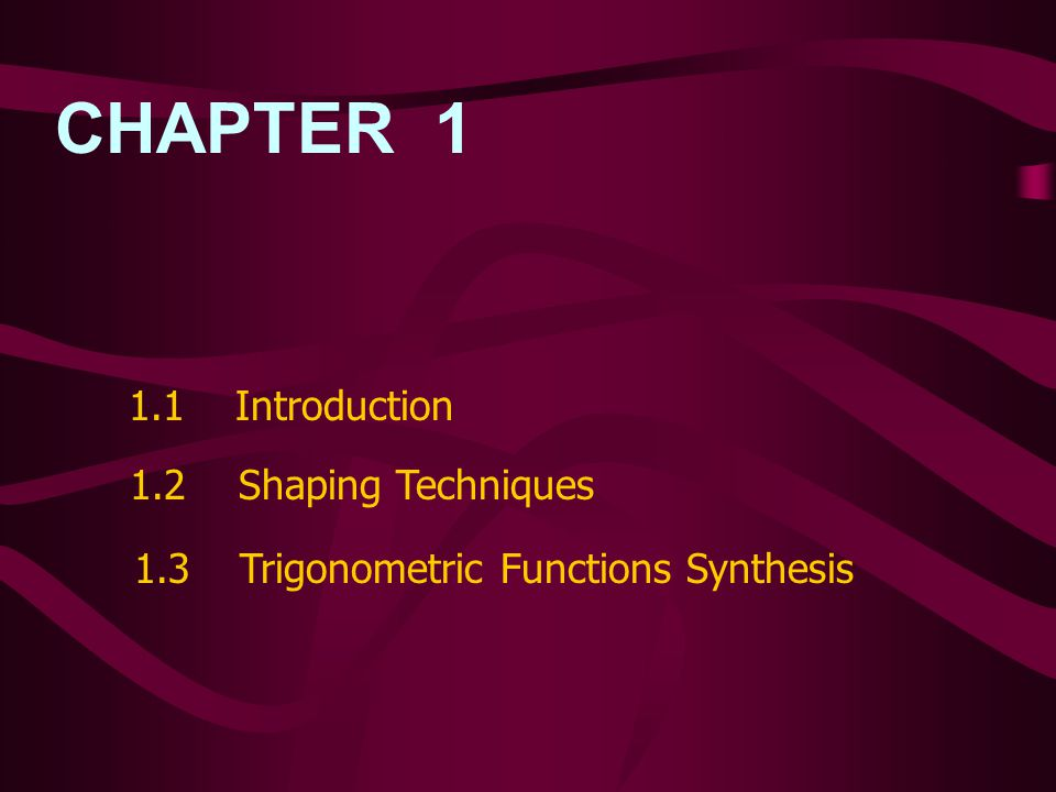 CHAPTER 2 Bipolar Technique 2.1 Introduction 2.2 Analysis of the General Sine-Shaping Network