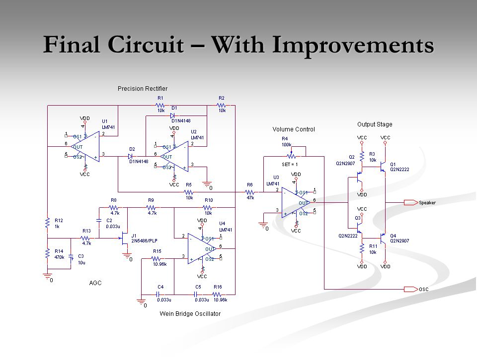 Final Circuit – With Improvements
