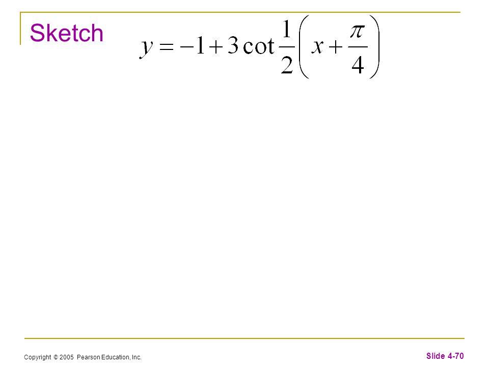 Copyright © 2005 Pearson Education, Inc. Slide 4-70 Sketch