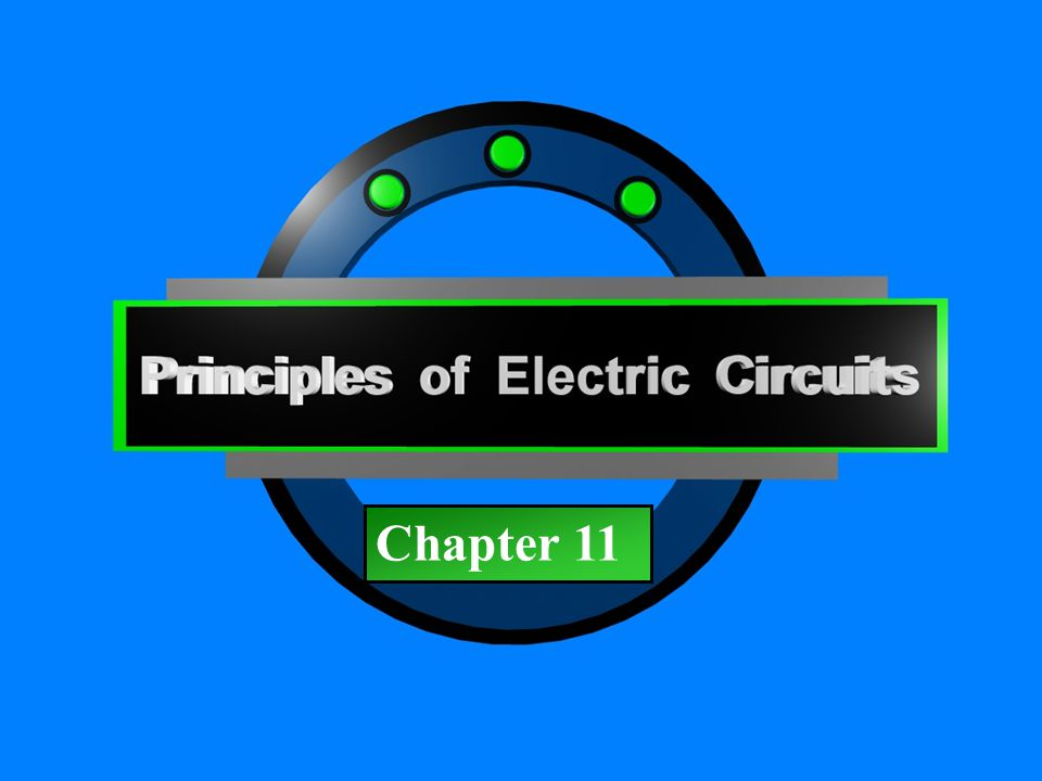 Principles of Electric Circuits - Floyd© Copyright 2006 Prentice-Hall Chapter 11 The sine wave can be represented as the projection of a vector rotating at a constant rate.