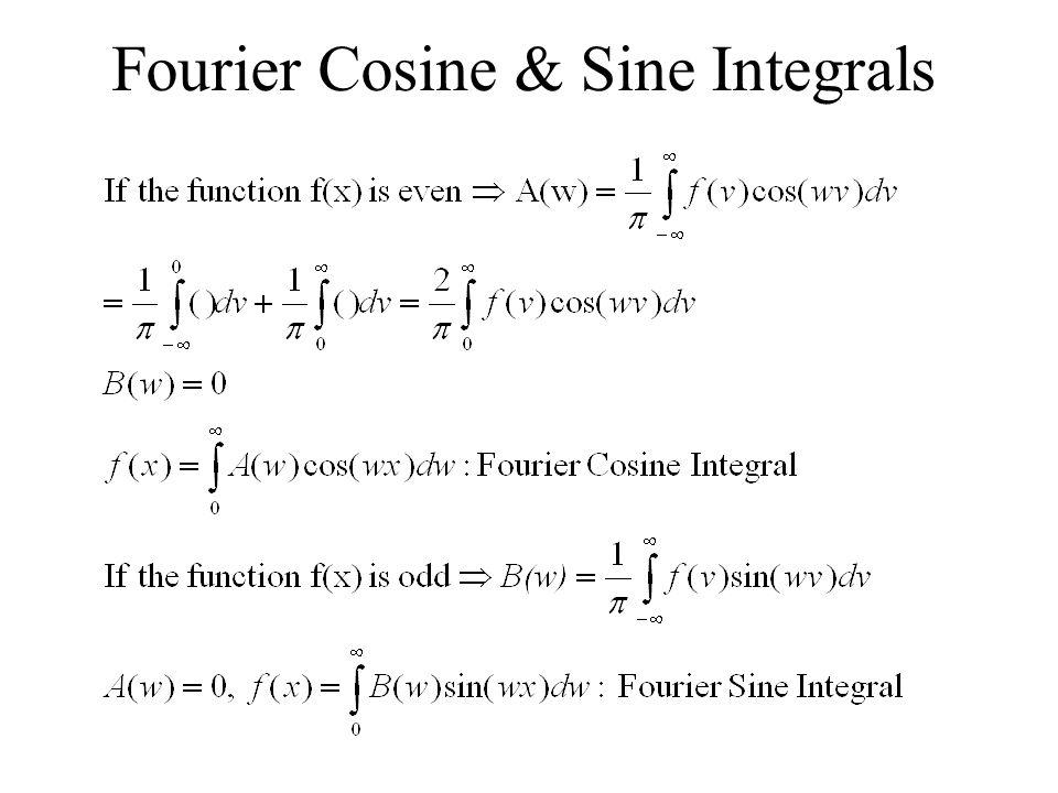 Fourier Cosine & Sine Integrals